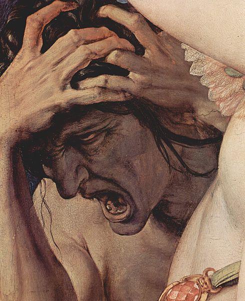 Agnolo Bronzino, Alegoría del amor (1540/45), Detalle